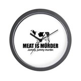 Meat is murder Wall Clock