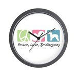 Peace, Love, Bedlingtons Wall Clock