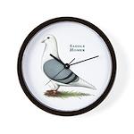 Blue Saddle Homer Wall Clock