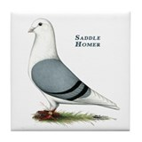 Blue Saddle Homer Tile Coaster