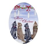 Flat-coated Retriever Dreams Christmas Ornament