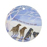 Flat-coated Retriever Moonlight Ornament (Round)