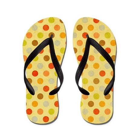 Lots O Bright Fall and Autumn Flip Flops