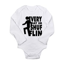 Shufflin Long Sleeve Infant Bodysuit