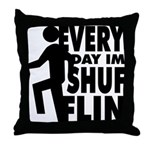 Shufflin Throw Pillow