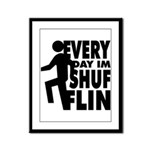 Shufflin Framed Panel Print