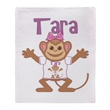 Little Monkey Tara Throw Blanket