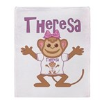 Little Monkey Theresa Throw Blanket