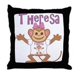 Little Monkey Theresa Throw Pillow