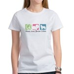 Peace, Love, Border Collies Women's T-Shirt