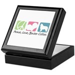 Peace, Love, Border Collies Keepsake Box