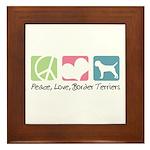 Peace, Love, Border Terriers Framed Tile