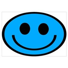 Classic Blue Smiley Face