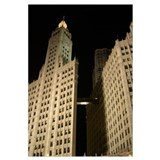 Chicago's Wrigley Building at Night