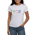 Peace, Love, Borzoi Women's T-Shirt