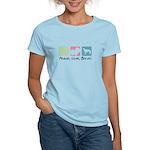 Peace, Love, Borzoi Women's Light T-Shirt