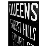 Queens Forest Hills Framed Vintage Sign Photo