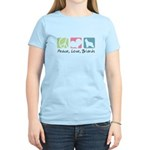 Peace, Love, Briards Women's Light T-Shirt
