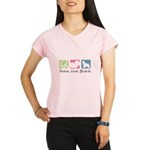 Peace, Love, Briards Performance Dry T-Shirt