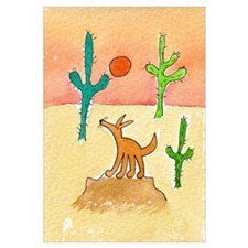 Cute Coyote Wall Art