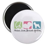 Peace, Love, Brussels Griffon Magnet