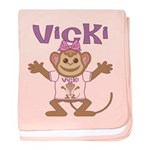 Little Monkey Vicki baby blanket