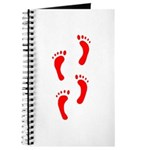 FOOTPRINTS™ IN RED™ PAINT™ Journal