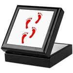 FOOTPRINTS™ IN RED™ PAINT™ Keepsake Box
