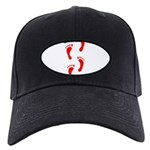 FOOTPRINTS™ IN RED™ PAINT™ Black Cap
