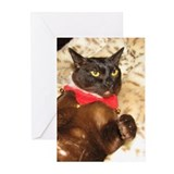 FPG Xmas Cat VIII - Greeting Cards (Pk of 10)