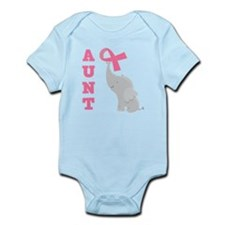 Breast Cancer Aunt Support Infant Bodysuit