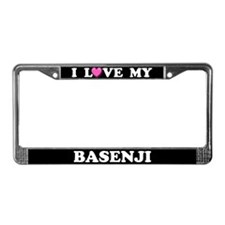 I Love My Basenji License Plate Frame