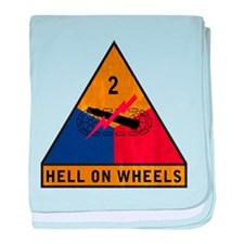 2nd Armored Division - Hell O baby blanket