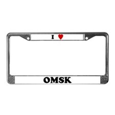 I Love Omsk License Plate Frame