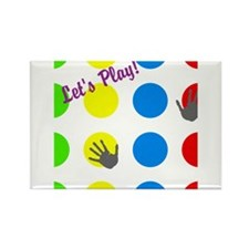 Twister Style Rectangle Magnet