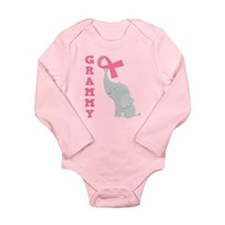 Breast Cancer Grammy Long Sleeve Infant Bodysuit