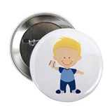 Little Baseball Player 2.25&quot; Button