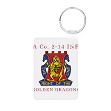 A Co 2-14 INF - Golden Dragon Keychains