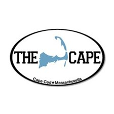 The Cape MA - Map Design 38.5 x 24.5 Oval Wall Pee