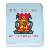 D Co 2-14 INF - Golden Dragon baby blanket