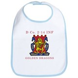 D Co 2-14 INF - Golden Dragon Bib