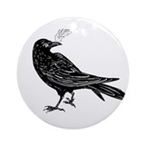 Raven Art Ornament (Round)