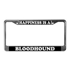 Happiness Is A Bloodhound License Plate Frame