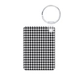 Houndstooth Heaven Aluminum Photo Keychain