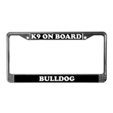 K9 On Board Bulldog License Plate Frame