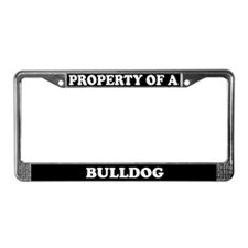 Property Of A Bulldog License Plate Frame