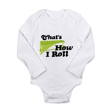 Pit Percussion Marimba Long Sleeve Infant Bodysuit