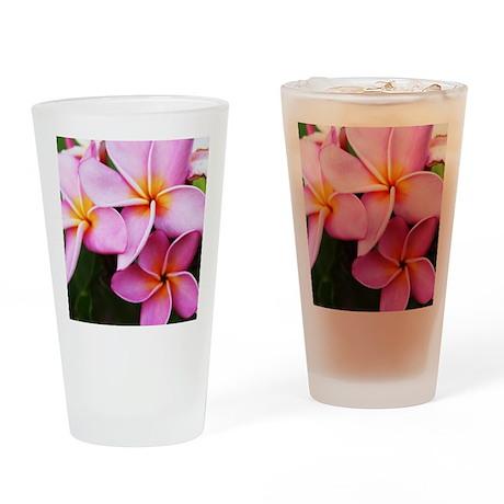 Plumeria Drinking Glass