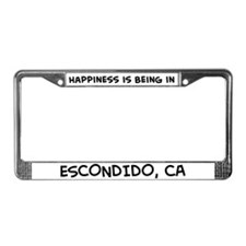 Happiness is Escondido License Plate Frame