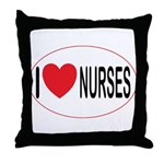 I Love Nurses Throw Pillow